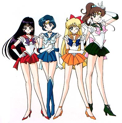 The 4 inner Senshi Scouts